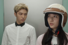 Krystal and L portrayed characters who were rumored to be dating on 'My Lovely Girl.'