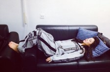 2ne1 dara getting rest in the waiting room