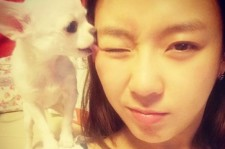 jewelry yewon picture with dog