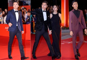 Kim Nam Gil, Jung Woo Sung and Lee Hyun Woo on the Red Carpet at the BIFF 2014