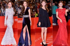 Kim Hee Jung, Kim Kyu Ri, Kim Sae Ron and Kim So Eun on the Red Carpet at the BIFF 2014