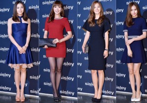 Celebrities at a Sisley Launching Event