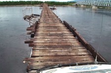How Can Crossing This Bridge Even Be Legal? Car Crosses The World's Most Dangerous Wooden Bridge