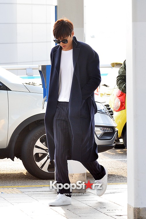 Lee Min Ho at Incheon Airport Heading to Qingdaokey=>1 count14