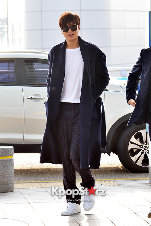 Lee Min Ho at Incheon Airport Heading to Qingdaokey=>2 count14