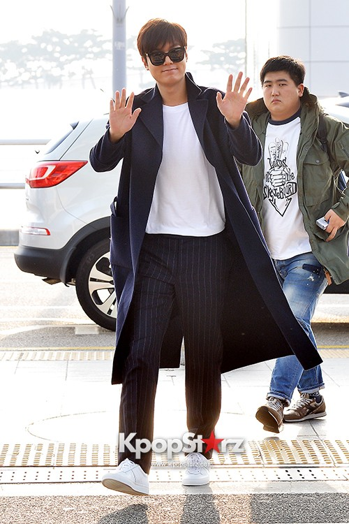 Lee Min Ho at Incheon Airport Heading to Qingdaokey=>4 count14