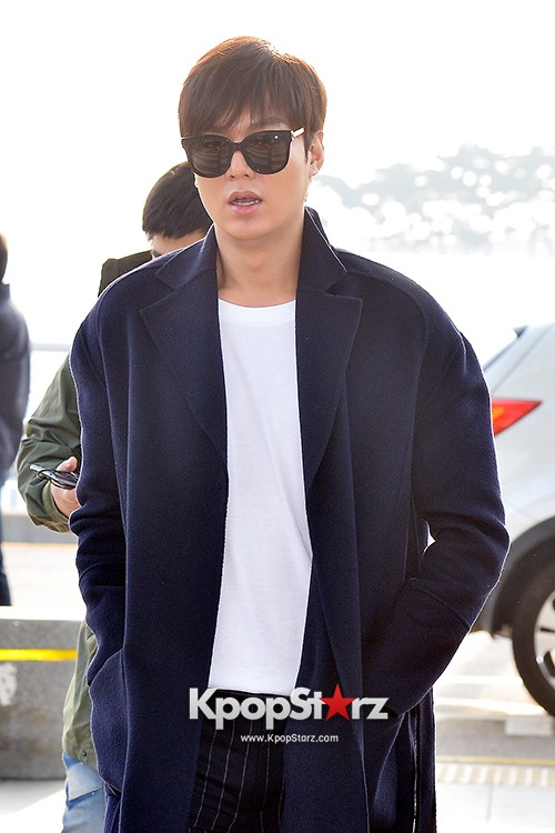 Lee Min Ho at Incheon Airport Heading to Qingdaokey=>6 count14