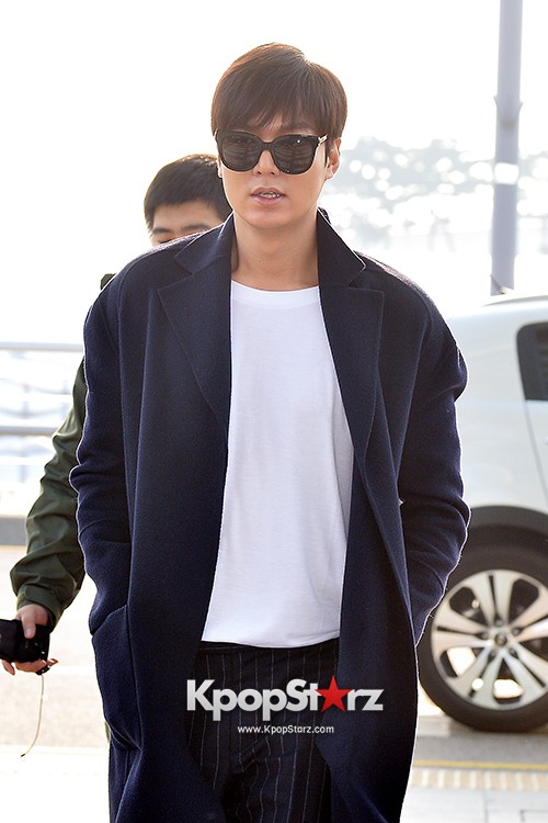 Lee Min Ho at Incheon Airport Heading to Qingdaokey=>7 count14