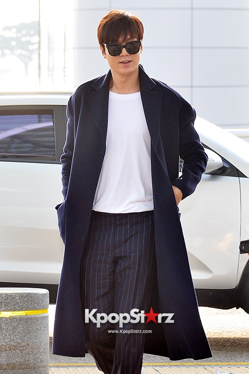 Lee Min Ho at Incheon Airport Heading to Qingdaokey=>8 count14