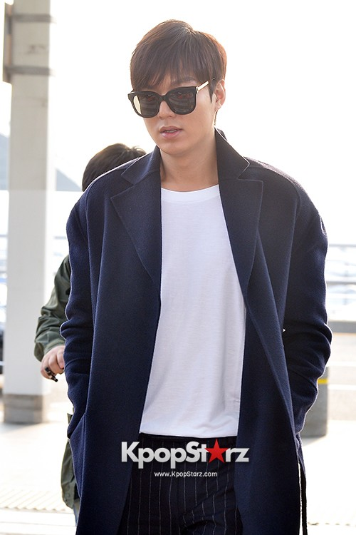 Lee Min Ho at Incheon Airport Heading to Qingdaokey=>9 count14