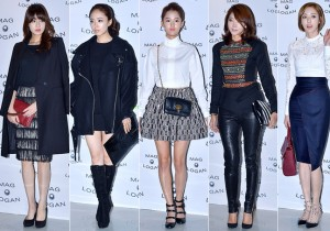 Kang So Ra, Kim Min Jung, Nam Bo Ra, Oh Yoon Ah and Lee Da Hee at 2015 S/S Seoul Fashion Week, MAG & LOGAN