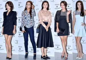 Lee Yoon Ji, Jo Yeo Jung, Chae Jung Ahn, Han Groo and Han Chae Young at 2015 S/S Seoul Fashion Week, MAG & LOGAN