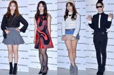 Lady Jane, Oh Yeon Seo, Chun Yi Seul and Clara at 2015 S/S Seoul Fashion Week, Lie Sang Bong
