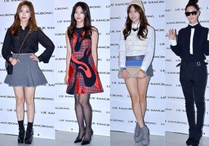 Lady Jane, Oh Yeon Seo, Chun Yi Seul and Clara at 2015 S/S Seoul Fashion Week, Lie Sang Bong