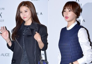 Kim So Eun and Oh Cho Hee at 2015 S/S Seoul Fashion Week, Joo Ho Sun