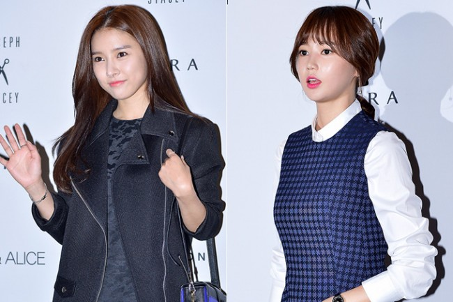 Kim So Eun and Oh Cho Hee at 2015 S/S Seoul Fashion Week, Joo Ho Sunkey=>0 count27