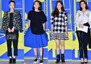 Son Soo Hyun, Jang Yoon Ju, Jang Jae In and Chae Jung Ahn at Lucky Chouette 2015 S/S Collection Launching Event
