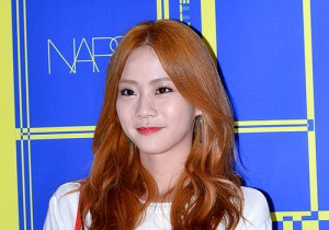 Kara's Han Seung Yeon at Lucky Chouette 2015 SS Collection Launching Event