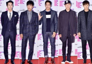 Kim Hyung Joon, Nam Goong Min, Eric, Lee Jung Jin and Choi Jin Hyuk at VOGUE Fashion's Night Out 2014 Party