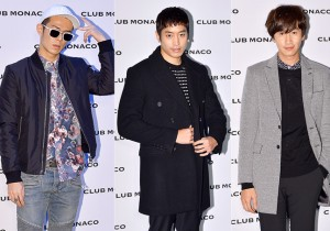Beenzino, Eric and Lee Kwang Soo at Club Monaco Opening Party