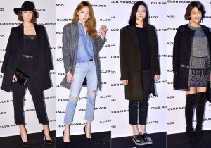 Song Kyung Ah, Lee Sung Kyung, Esom and Hwang So Hee at Club Monaco Opening Party
