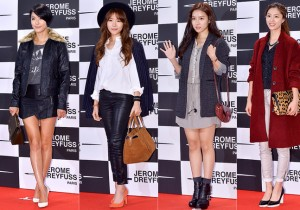 Gahee, Kim Greem, Kim So Eun and Seo Ji Hye Attend Jerome Dreyfuss Flagship Store Opening Party