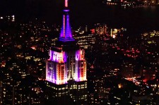 Watch Empire State Building's Halloween Light Show
