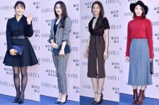 Bada, Son Eun Seo, Soo Hyun and Uhm Hyun Kyung at Estée Lauder 'Modern Muse' Pop-up Store Opening Event
