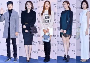 Yeon Woo Jin, Lee Jung Hyun, Lee Tae Im, Cha Ye Ryun and Ha Yeon Joo at Estée Lauder 'Modern Muse' Pop-up Store Opening Event
