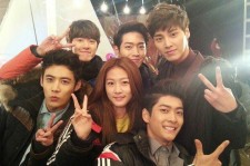 5urprise members with Kim Sae Ron