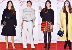 Kim Hyo Jin, Soo Hyun, Jang Jae In and Choi Ji Woo at the 'Roger Vivier-Icons Connected' Exhibition Opening Party