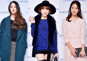 Kim Hyo Jin, Seo In Young and Oh Yeon Seo at the Rebecca Minkoff 2015 S/S Fashion Show