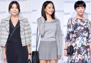 Oh Yoon Ah, Yoon Seung Ah and Lee Ha Na at the Rebecca Minkoff 2015 S/S Fashion Show