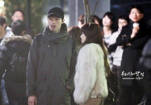 Jessica seen filming drama