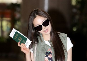 Wonder Girls Sohee Leaving Gimpo Airport with the Cutest Smile in the World