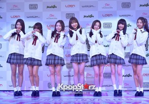 Woollim Entertainment's New Girl Group Lovelyz Attends the Debut Showcase