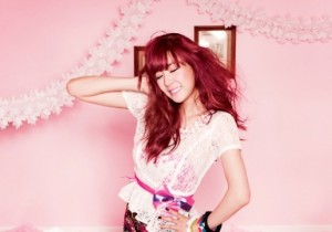 Tiffany (SNSD) Poses for a Beautiful Birthday Party Themed CeCi Photo Shoot