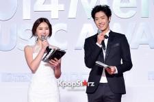 MC Park Eun Ji and Takuya Attend MBC Music 2014 MelOn Music Awards
