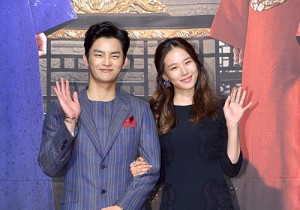 Seo In Guk and Jo Yoon Hee at a Press Conference of KBS 2TV's Drama 'The King Face'