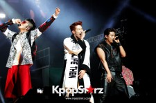 2PM's Wooyoung, Jun.K, and Taecyeon deliver powerful vocal performances during the first stop of their U.S. tour.