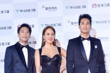 MC Uhm Jung-hwa, Oh Man seok, and Shin Hyun Joon at 51st Grand Bell Awards (Daejong Film Awards)