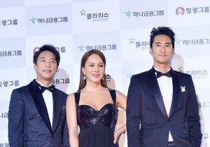 MC Uhm Jung-hwa, Oh Man seok, and Shin Hyun Joon at 51st Grand Bell Awards (Daejong Film Awards)