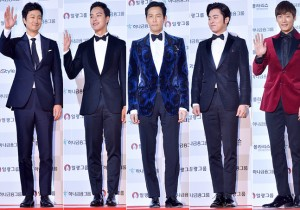 Park Hae Il, Yeo Jin Goo, Lee Jung Jae, Jo Jung Suk and Choi Jin Hyun at 51st Grand Bell Awards (Daejong Film Awards)