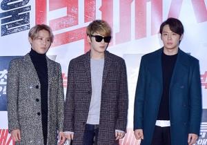 JYJ at 'Big Match' VIP Movie Premiere