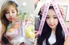 chorong son naeun thank fans for fruit basket