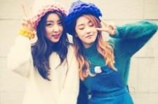 4minute kwon sohyun huh gayoon matching beanies