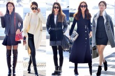 Kyung Soo Jin, Yoo In Na, Choi Yeo Jin, Choi Ji Woo and Han Groo at Incheon International Airport Leaving for 2014 MAMA in Hong Kong