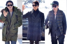 Kwan Sang Woo, Song Seung Hun, Lee Dong Wook at Incheon International Airport Leaving for 2014 MAMA in Hong Kong