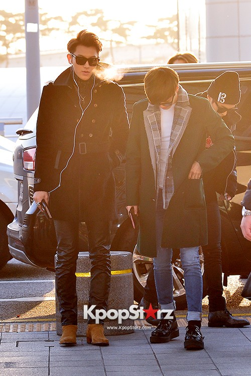 EXO at Incheon International Airport Leaving for 2014 MAMA in Hong Kong key=>3 count22