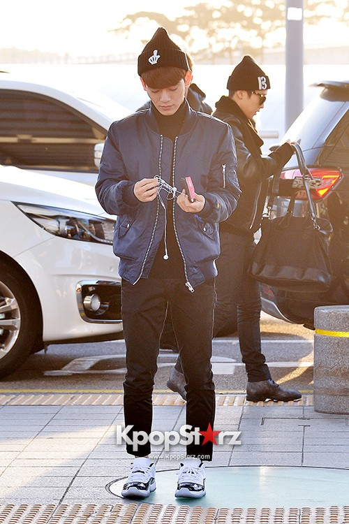 EXO at Incheon International Airport Leaving for 2014 MAMA in Hong Kong key=>4 count22